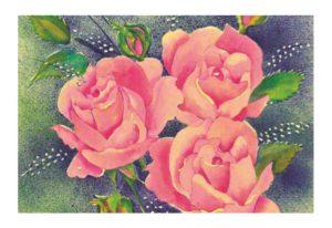 Prayer Card birthday roses