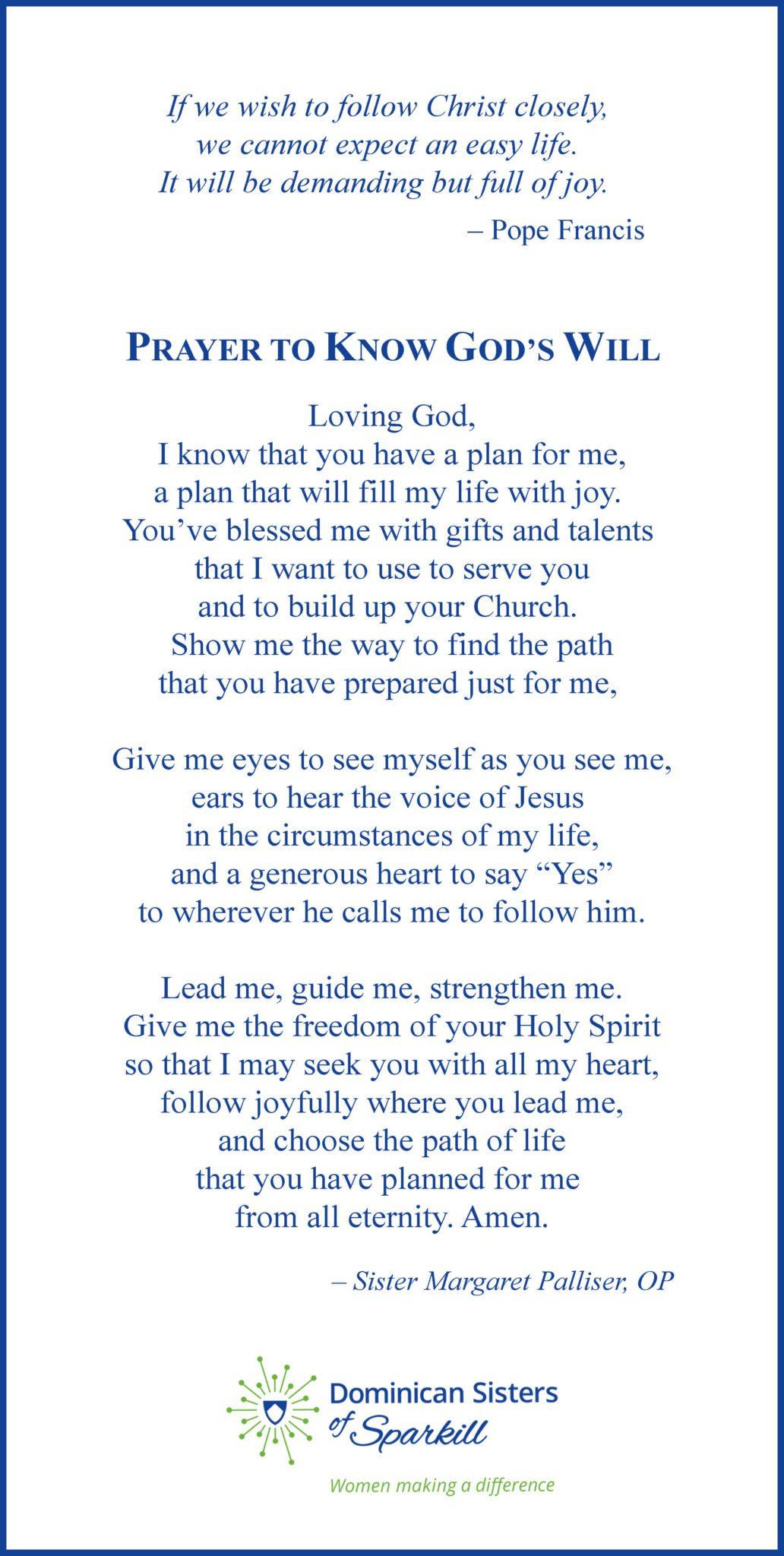 Prayer to Know God's Will
